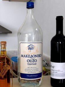 L'ouzo ou le raki pour le verre de bienvenue